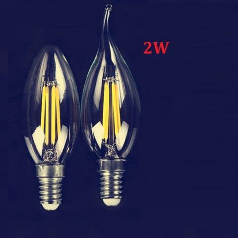 Đèn LED quả nhót 2W E14 sáng ấm
