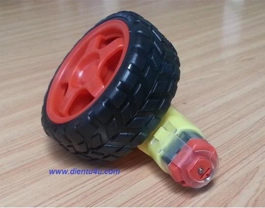 Động cơ + bánh xe robot