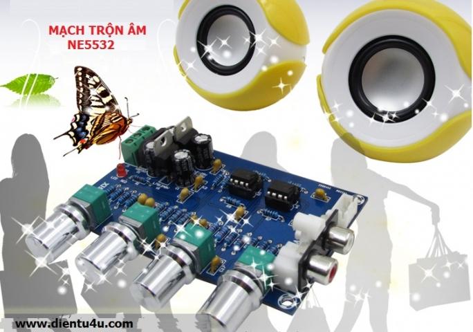 Mạch trộn âm NE5532 (Mixer)
