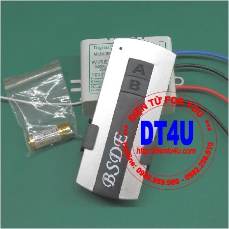 Bộ điều khiển RF 220VAC 1 thiết bị - BSDE01