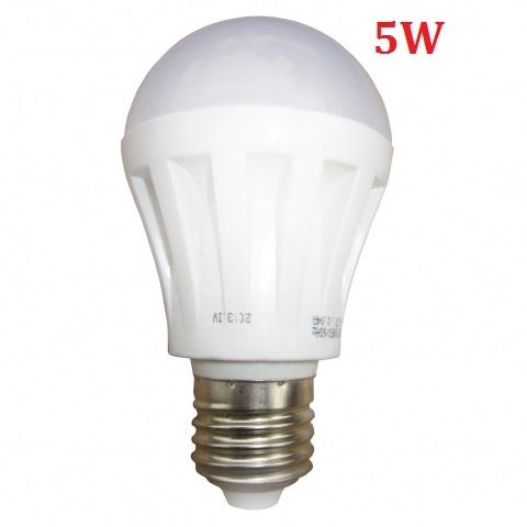 Đèn LED búp tròn 5W E27 sáng trắng