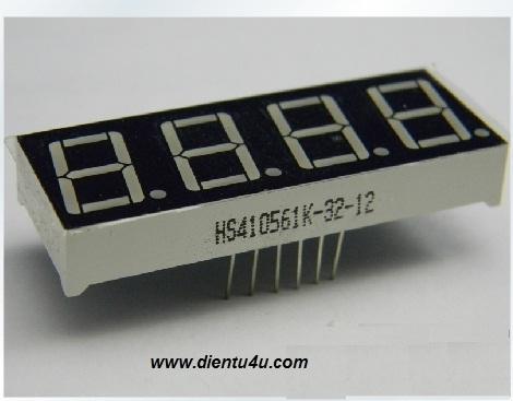 LED 7 thanh x4 0.56 inch cathode chung