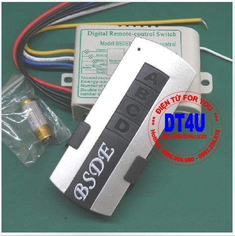 Bộ điều khiển RF 220V 3 thiết bị - BSDE03