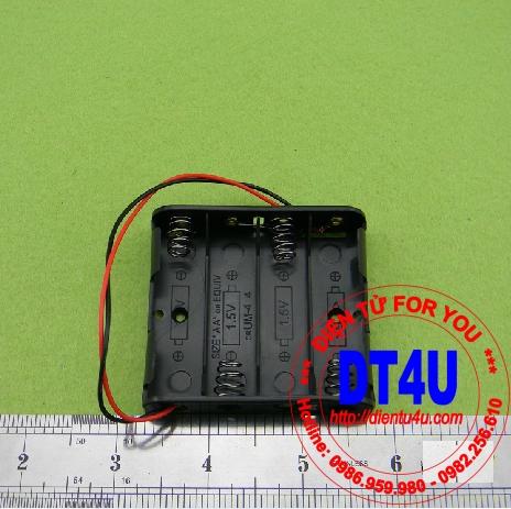 Hộp pin AA 4 pin