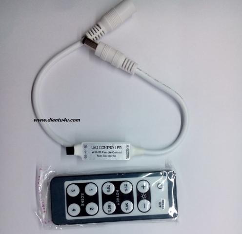 LED Dimmer 12V-24V 6A điều khiển từ xa IR