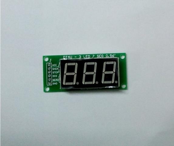 Module 3 LED 7 thanh 0.56 inch dùng 74HC595