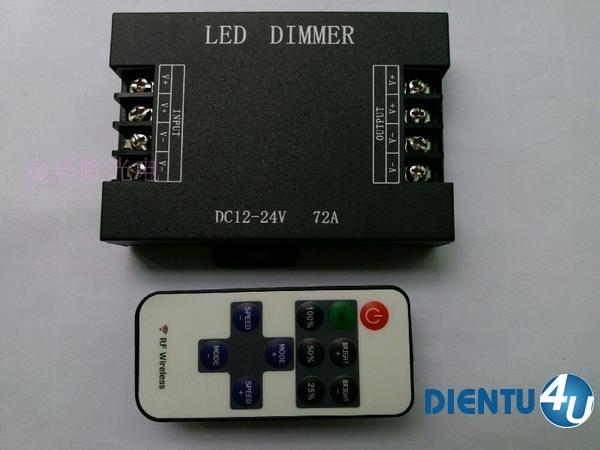 LED Dimmer 12V-24V 72A điều khiển từ xa RF