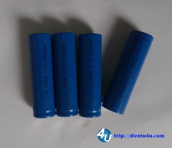 Pin Lithium 18650 2000mAH