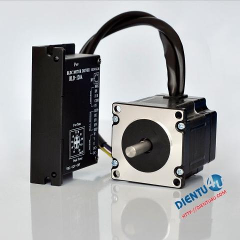 Bộ động cơ 60W3000 + Mạch điều khiển BLD-120A 24V/48V