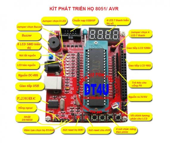 Kít phát triển MCU 51/AVR