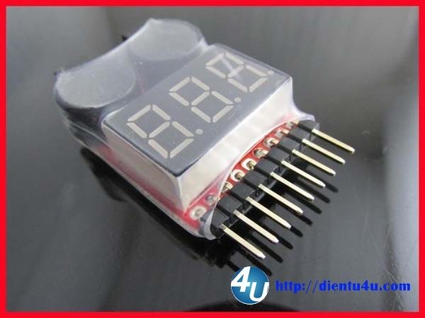 Mạch đo và kiểm tra Pin lithium 8 cell (1-8S)