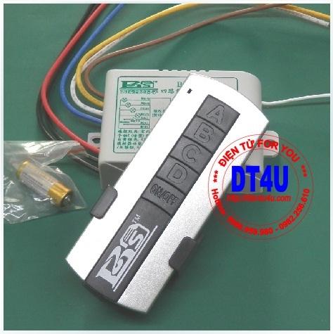Bộ điều khiển RF 220VAC 4 thiết bị - BSDE04