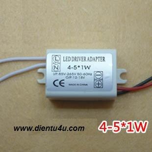 Mạch điều khiển 4-5 LED 1W + hộp