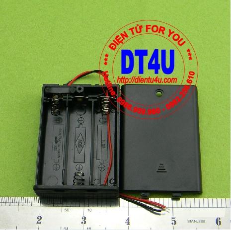 Hộp pin AA 3 pin + nắp