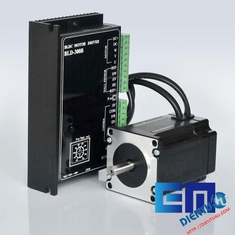 Bộ động cơ 125W3000 + Mạch điều khiển BLD-300B 24V/48V