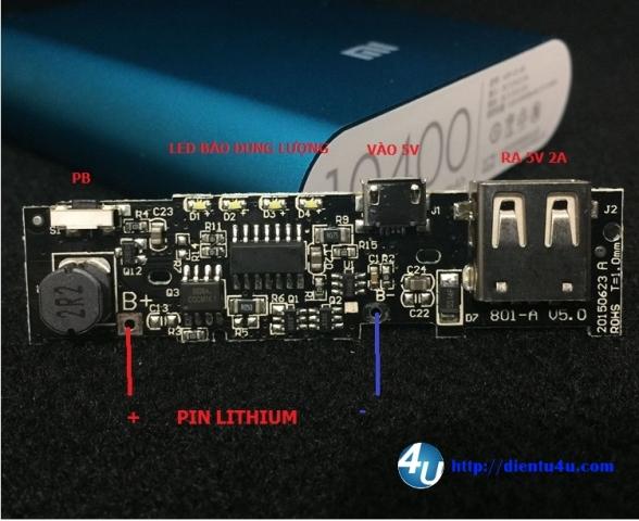 Mạch sạc pin dự phòng-Power bank DT01