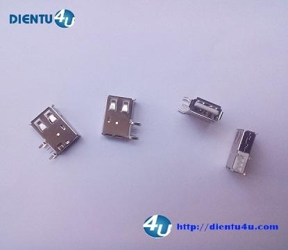 Jack USB-A 4P 90 SMD cái