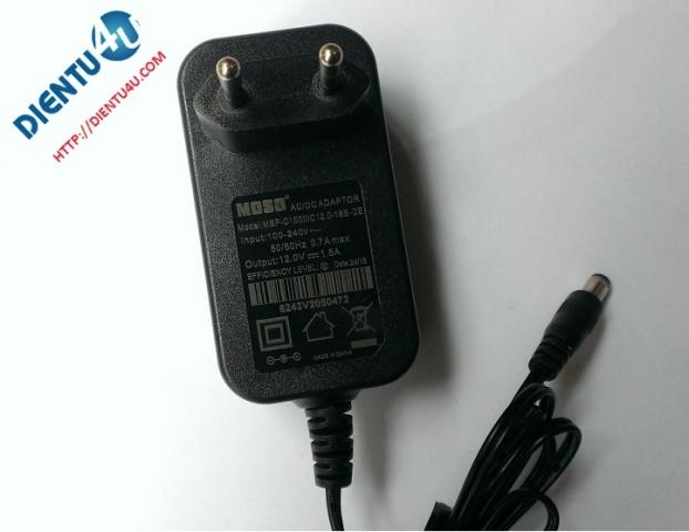 Adapter 12V 1.5A Rắc 5.5MM*2.1MM