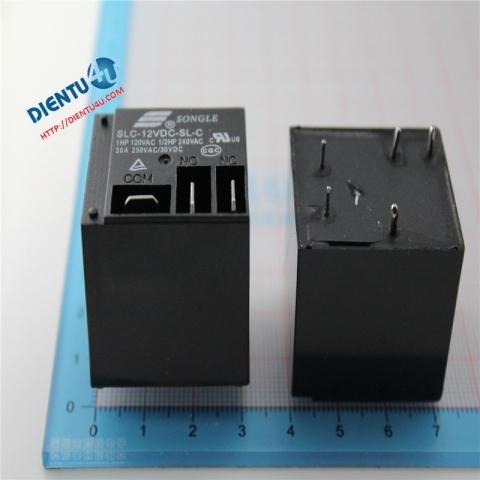 Relay 12V 30A SLC-12VDC-SL-C 5 chân