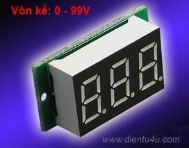Vôn kế V20D DC0-99V