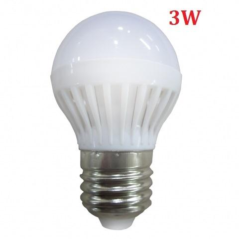 Đèn LED búp tròn 3W E27 sáng trắng