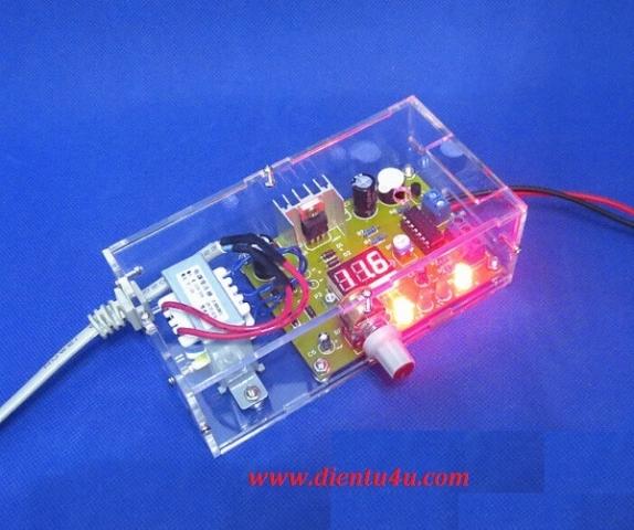 Bộ nguồn điều chỉnh dùng LM317 2W